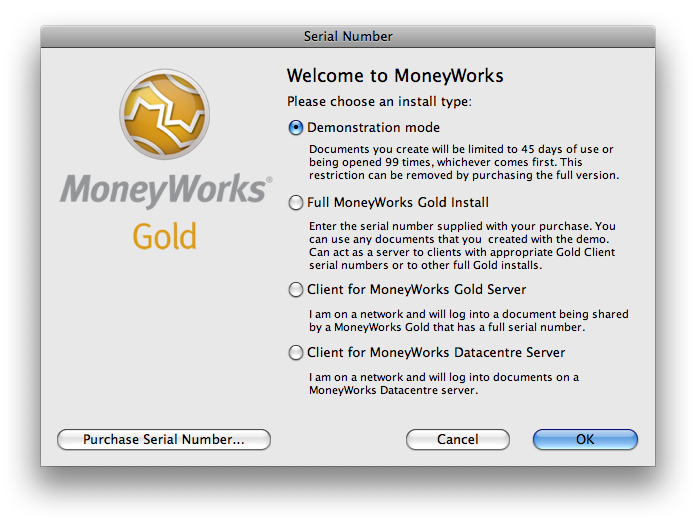 MoneyWorks Gold for Mac OS X full screenshot