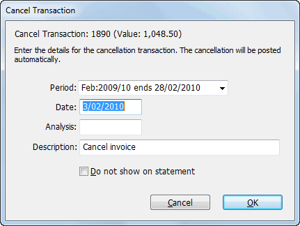 cancel transaction