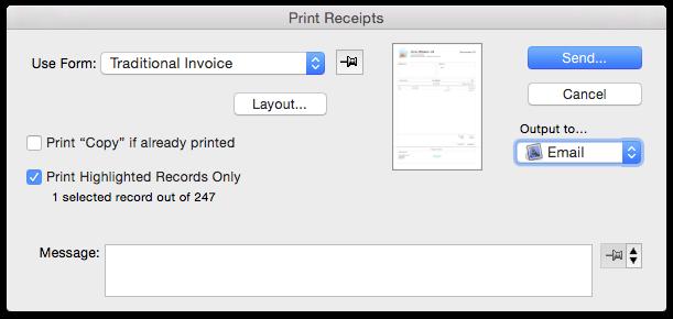 printing tax receipts