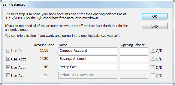 090 Bank Balances Wg